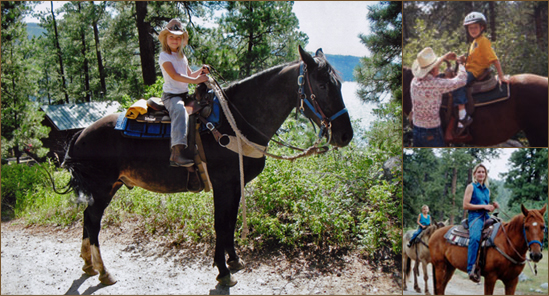 Horseback riding at Elk Point Lodge